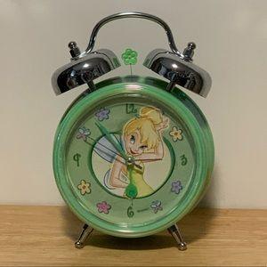 Disney TINKERBELL Retired Green Double Bell Clock